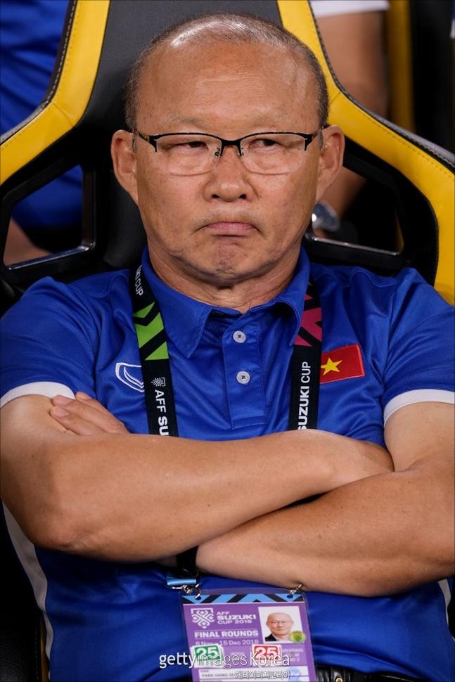 박항서 감독이 베트남 국민들에게는 물론 한국 축구팬들에게도 필승 의지를 보여줬다. ⓒ 게티이미지