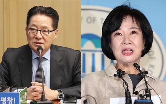 (왼쪽)박지원 민주평화당 의원, (오른쪽)손혜원 무소속 의원.ⓒ데일리안 박항구·홍금표 기자