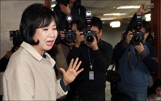 더불어민주당을 탈당한 손혜원 의원이 지난 20일 국회에서 기자회견을 갖고 있다(자료사진). ⓒ데일리안 박항구 기자