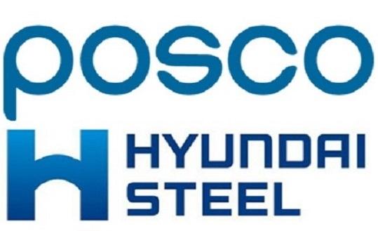 포스코, 현대제철 각사 로고.ⓒ각사 홈페이지