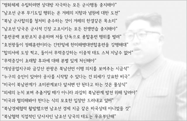 북한 매체의 훈련중단·경제협력 요구발언 (2018년 11월~2019년 2월) ⓒ데일리안