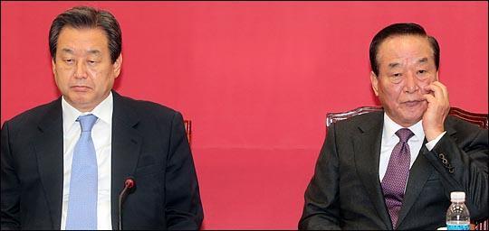 김무성 자유한국당 의원과 서청원 무소속 의원(자료사진) ⓒ데일리안 박항구 기자