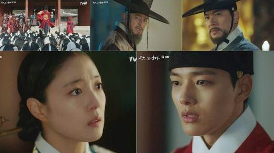 tvN '왕이 된 남자'에서 광대 여진구가 이세영에게 정체를 들켰다.ⓒ tvN