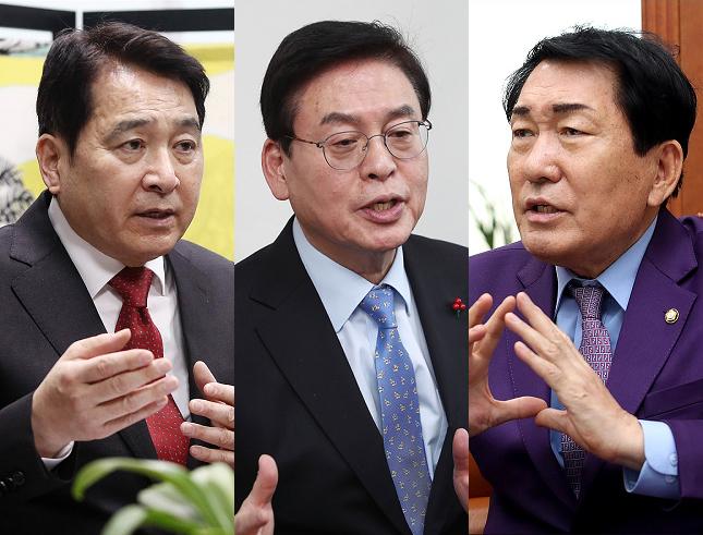 심재철·정우택·안상수 자유한국당 의원은 12일 오전 2·27 전당대회 불출마 입장을 최종적으로 공식화했다. ⓒ데일리안