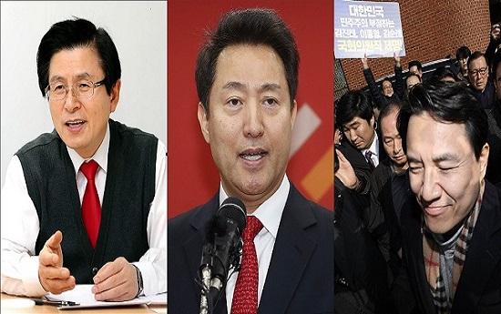 (왼쪽부터)자유한국당 당권주자인 황교안 전 국무총리, 오세훈 전 서울시장, 김진태 의원 ⓒ데일리안