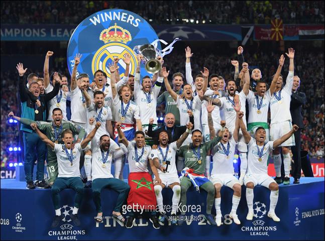 레알 마드리드는 유럽클럽대항전에서 가장 많은 우승을 차지한 클럽이다. ⓒ 게티이미지