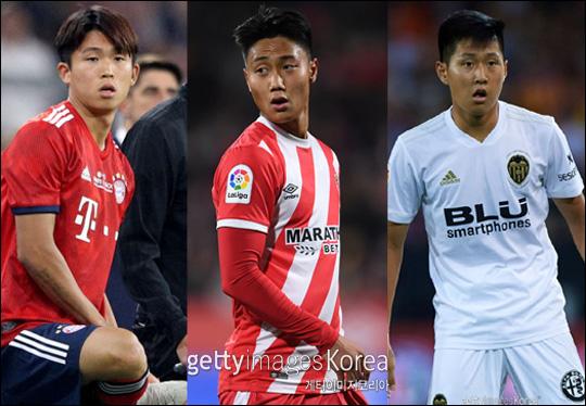 현재 한국 축구서 가장 큰 관심을 갖고 있는 기대주는 정우영, 백승호, 이강인 등 3인방이다. ⓒ 게티이미지