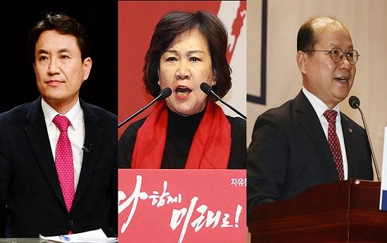 김진태·김순례·이종명 자유한국당 의원의 5·18 비하 논란이 언제까지 지속될지 관심이 모인다. 사진은 김진태·김순례·이종명 의원(왼쪽부터). ⓒ연합뉴스