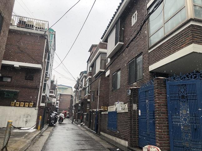 서울 동대문구 일대 대학가 인근 주택가 모습. ⓒ이정윤 기자