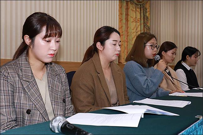 지도부의 부조리를 세상에 공개한 팀 킴. ⓒ 데일리안 류영주 기자