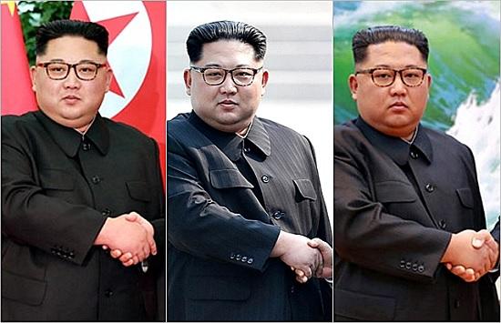 지난해 김정은 북한 국무위원장이 (왼쪽부터)시진핑 중국 국가주석, 문재인 대통령, 라브로프 러시아 외무상과 만나 악수하는 모습 ⓒ조선중앙통신