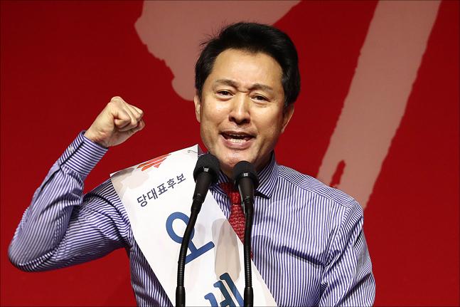 2·27 자유한국당 전당대회에 당대표 후보로 출마한 오세훈 미래비전위원장. ⓒ데일리안 홍금표 기자