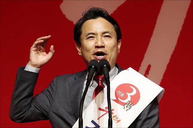 2·27 자유한국당 전당대회에 당대표 후보로 출마한 김진태 의원. ⓒ데일리안 홍금표 기자