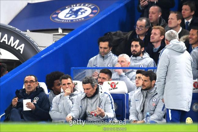 [첼시 토트넘]사리 감독은 케파를 벤치에 앉혔다. ⓒ 게티이미지
