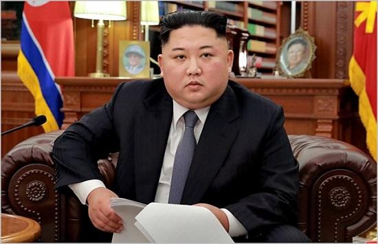 김정은 북한 국무위원장이 지난 1일 신년사를 발표하고 있다. ⓒ노동신문