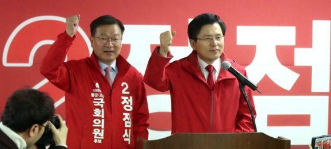 황교안 자유한국당 대표도 정점식 경남 통영고성 재선거 후보와 함께 18일 오전 통영중앙시장을 방문한다. ⓒ연합뉴스