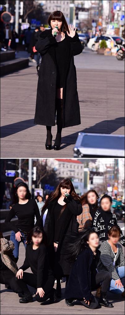 박봄이 신촌 버스킹 공연을 성황리에 마쳤다. ⓒ 디네이션
