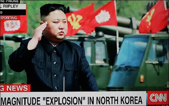 지난 2017년 9월 북한의 6차 핵실험 직후 CNN이 관련뉴스를 보도하고 있다. /CNN 화면촬영 ⓒ데일리안