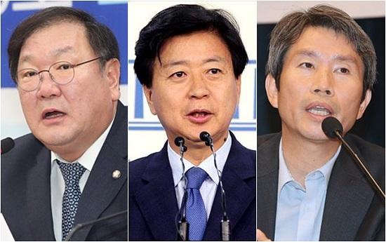 22일 더불어민주당 원내대표 선거는 (왼쪽부터)김태년·노웅래·이인영 의원 등 수도권 3선 의원들의 3파전 구도로 압축돼 있다. ⓒ데일리안 박항구·홍금표 기자