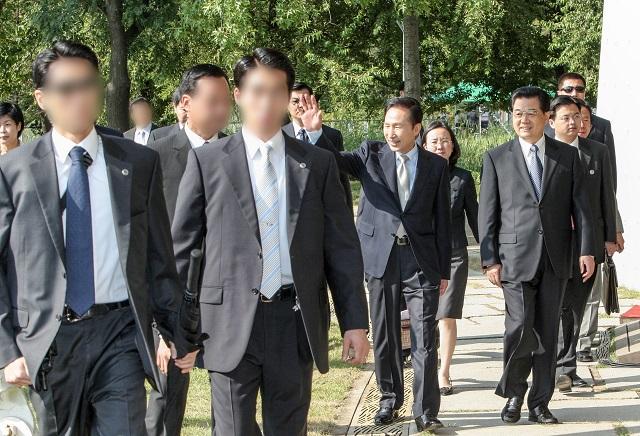 2008년 8월 서울숲에서 열린 한중청년 대표단 간담회(청와대 제공)