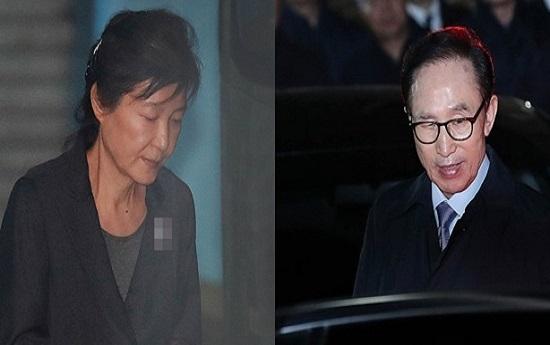 박근혜 전 대통령(왼쪽)과 이명박 전 대통령(자료사진)ⓒ데일리안