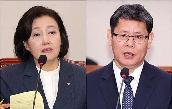 박영선(왼쪽) 중소벤처기업부 장관 후보자, 김연철 통일부 장관후보자. ⓒ데일리안 박항구 기자