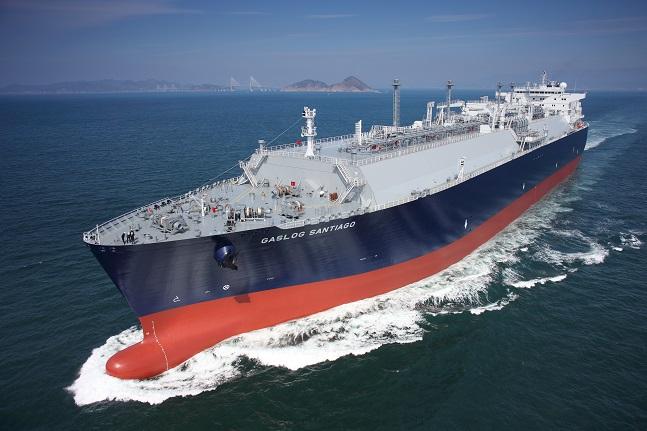 삼성중공업이 건조한 LNG선 ⓒ삼성중공업