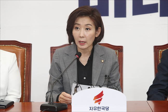 나경원 자유한국당 원내대표 ⓒ데일리안 홍금표 기자