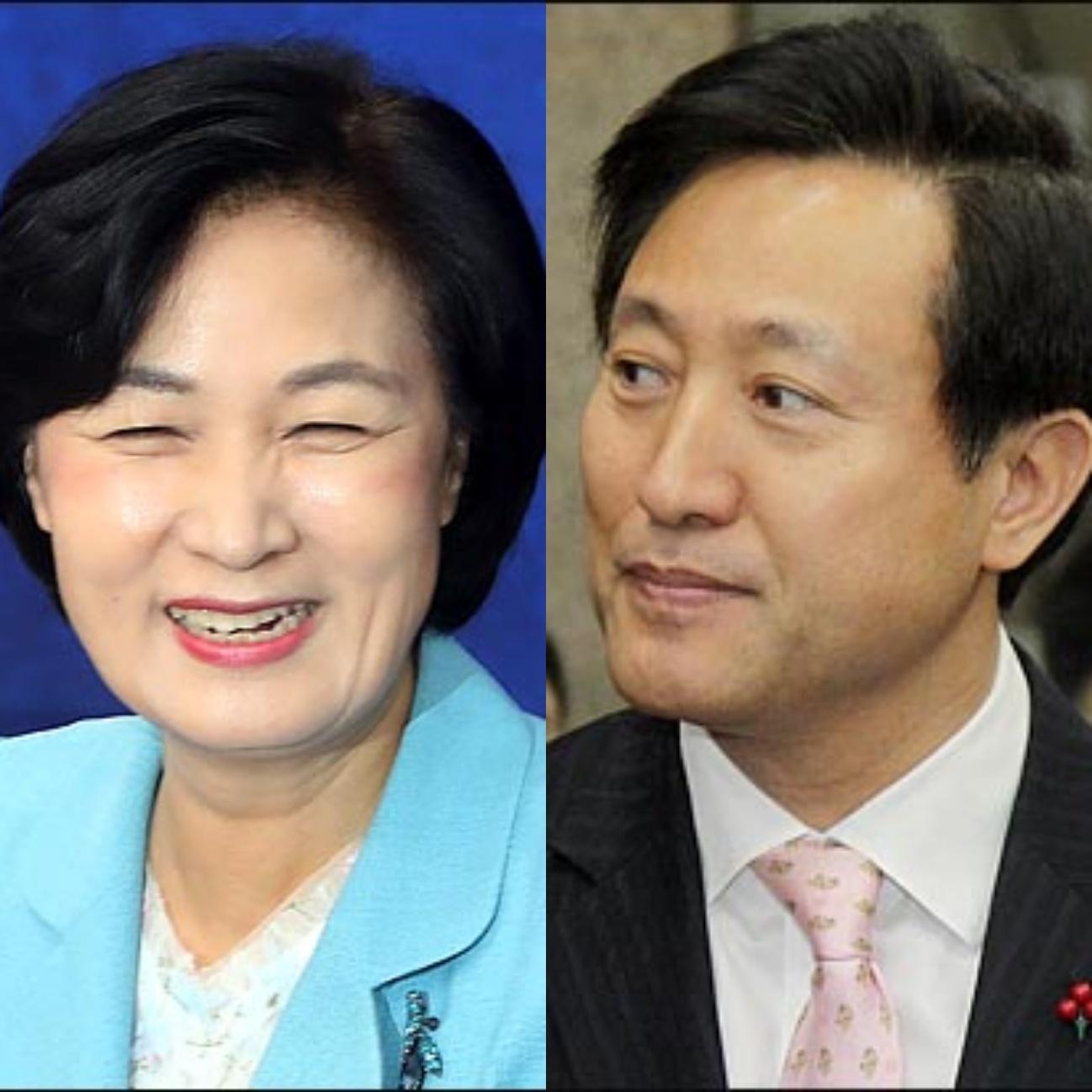 추미애 전 더불어민주당 대표(왼쪽)와 오세훈 전 서울시장의 모습. ⓒ데일리안