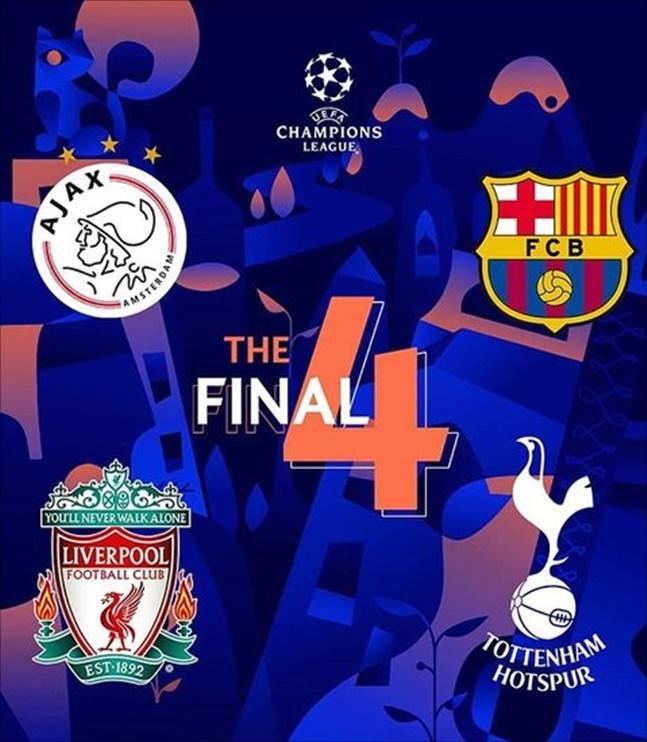 챔피언스리그 4강 대진표. ⓒ UEFA