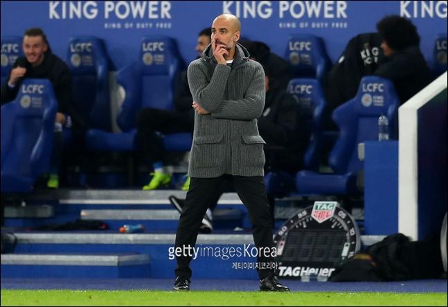 [토트넘 맨시티]과르디올라 감독이 요렌테 골에 대한 VAR 판독에 아쉬움을 표했다. ⓒ 게티이미지