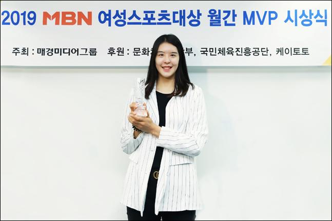 박지수 3월 MVP. ⓒ MBN