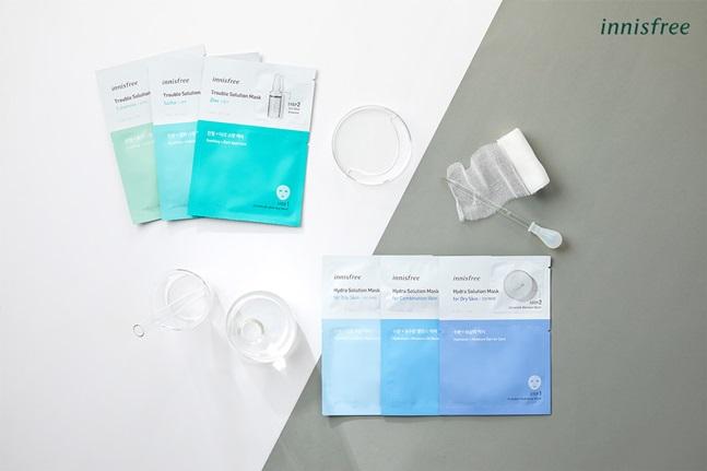 이니스프리는 복잡한 피부 고민의 원인에 맞춤 솔루션을 제시하는 '솔루션 마스크 6종'을 출시했다. ⓒ아모레퍼시픽