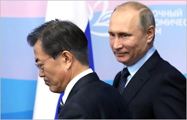문재인 대통령과 블라디미르 푸틴 러시아 대통령 ⓒ데일리안