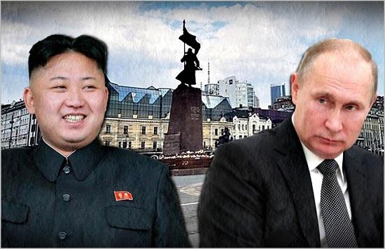 김정은 북한 국무위원장과 블라디미르 푸틴 러시아 대통령 ⓒ데일리안