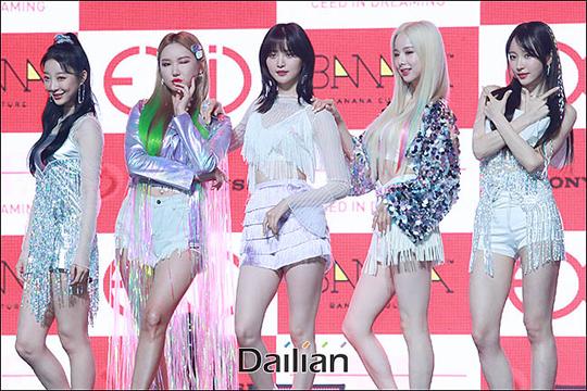 15일 오후 서울 용산구 블루스퀘어 아이마켓홀에서 열린 그룹 EXID의 전환기 전 마지막 5인 완전체 앨범