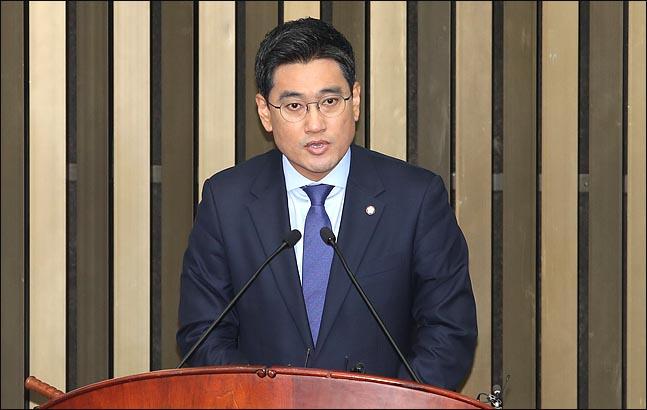 15일 국회에서 열린 바른미래당 의원총회에서 신임 원내대표로 선출된 오신환 원내대표가 인사말을 하고 있다. (자료사진)ⓒ데일리안 박항구 기자