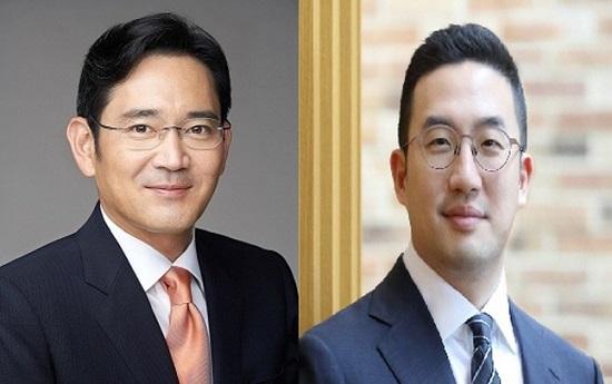 이재용 삼성전자 부회장(왼쪽)과 구광모 LG 회장.ⓒ각사