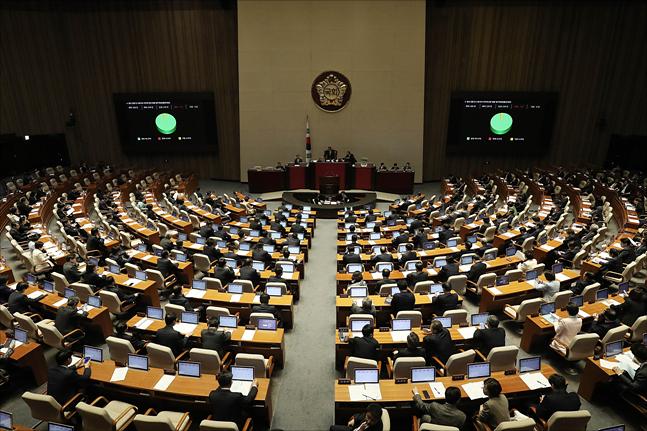 국회 본회의장(자료사진) ⓒ데일리안 홍금표 기자