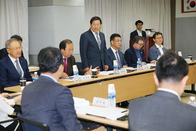 27일 '기업승계활성화위원회'가 출범해 제1차 회의를 개최하고 있다.ⓒ중소기업중앙회