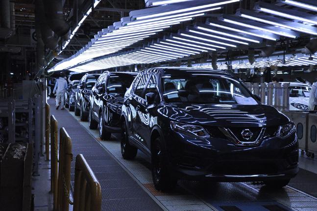 르노삼성자동차 부산공장에서 닛산 로그가 생산되고 있다. ⓒ르노삼성자동차
