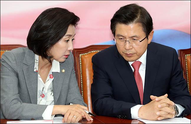 황교안 자유한국당 대표와 나경원 원내대표(자료사진) ⓒ데일리안 박항구 기자