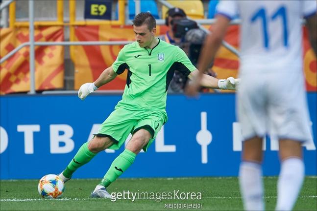 한국과 U-20 결승에서 만날 우크라이나 골키퍼 루닌. ⓒ 게티이미지