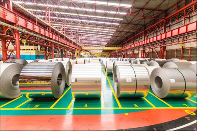 포스코-타이녹스 공장에 냉연롤이 적재돼 있다.ⓒ포스코