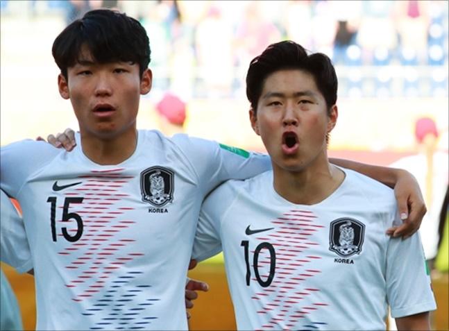 사상 첫 U-20 월드컵 결승 무대에 오르며 국위선양에 나서고 있는 20세 이하 대표팀. ⓒ 연합뉴스