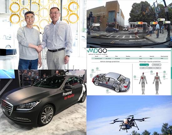 현대자동차그룹이 투자한 각종 스타트업 기술 관련 이미지.ⓒ현대자동차그룹