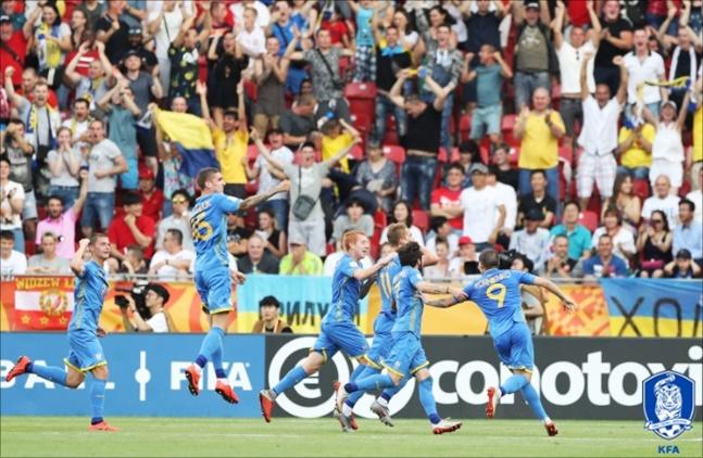 우크라이나가 U-20 월드컵 결승에서 한국을 3-1로 꺾고 우승을 차지했다. ⓒ 대한축구협회