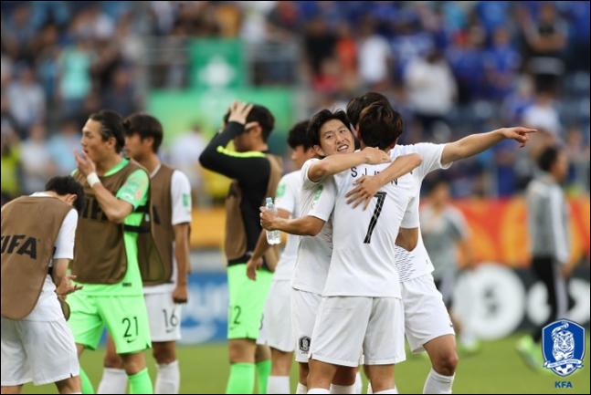 U-20 월드컵 축구대표팀이 17일 오전 귀국 후 서울광장에서 대한축구협회가 개최하는 환영행사에 참가한다. ⓒ KFA