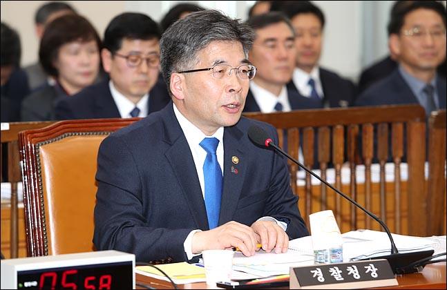 민갑룡 경찰청장이 YG엔터테인먼트 관련 의혹에 대해 철저한 수사를 약속했다. ⓒ 데일리안 박항구 기자