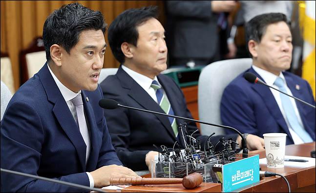 오신환 바른미래당 원내대표가 17일 오후 국회에서 열린 의원총회에서 발언을 하고 있다.(자료사진) ⓒ데일리안 박항구 기자